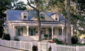 William e poole designs romantic cottages for Calabash cottage floor plan