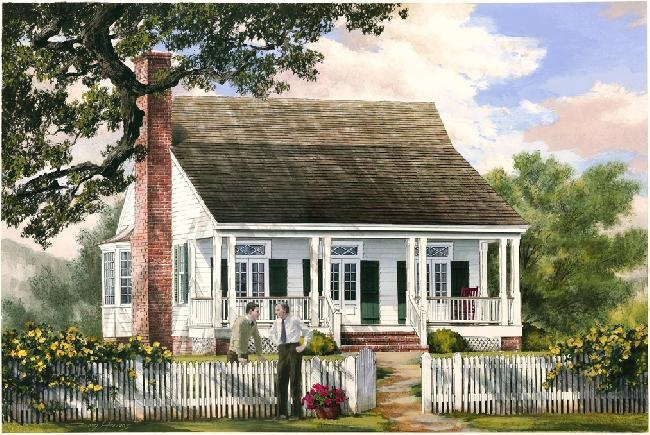William e poole designs cajun cottage for Home plans louisiana
