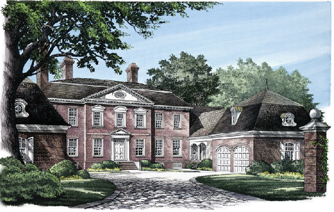 William e poole designs bromley court for William poole house plans