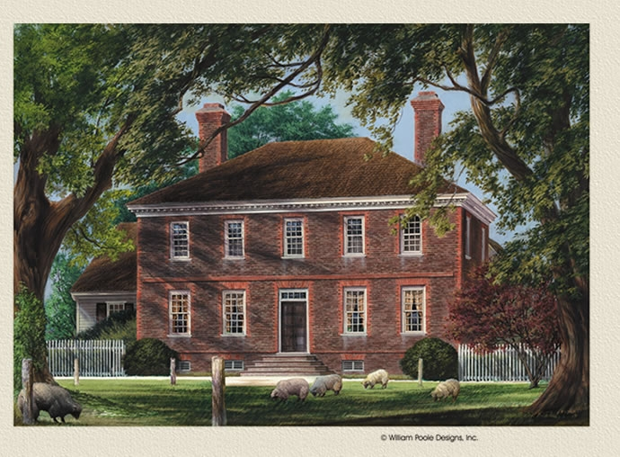 William e poole designs george wythe house for William poole house plans