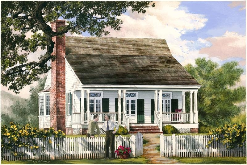 William e poole designs cajun cottage Creole cottage house plans